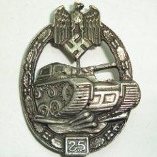 Militaria: BROCHE DISTINTIVO TANQUE RZM ALEMANIA NAZI ALEMAN. Lote 267844944