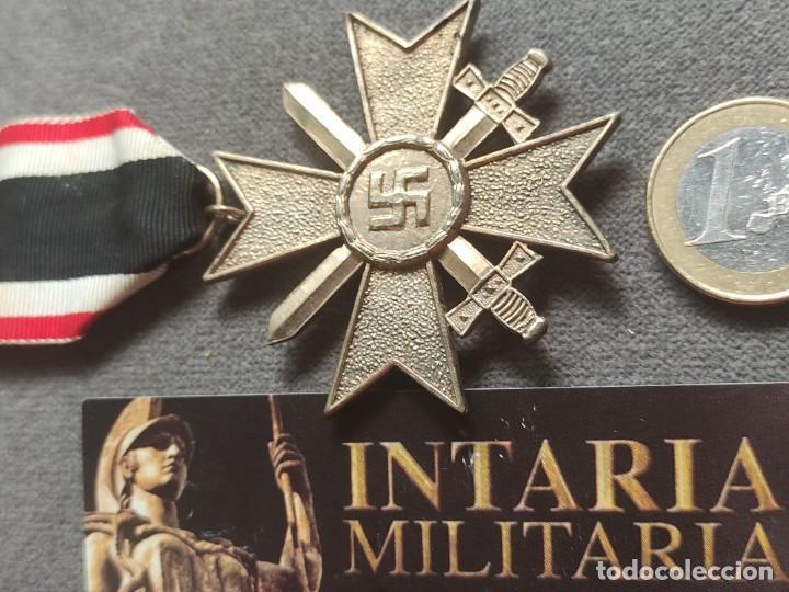CRUZ DE MÉRITO MILITAR ALEMANDE FABRICACIÓN ESPAÑOLA PARA DIVISIÓN AZUL (Militar - II Guerra Mundial)