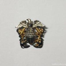 Militaria: INSIGNIA PLATA PARA GORRA GARRISON DE OFICIAL DE MARINA DE GUERRA ESTADOS UNIDOS.2ª GUERRA MUNDIAL. Lote 268768204