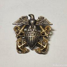 Militaria: INSIGNIA PLATA PARA GORRA GARRISON DE OFICIAL DE MARINA DE GUERRA ESTADOS UNIDOS.2ª GUERRA MUNDIAL. Lote 268768249