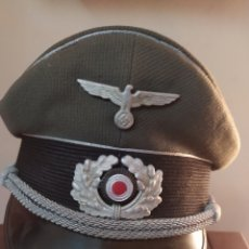 Militaria: GORRA DE PLATO ALEMANA. II G.M. OFICIAL DE LA WEHRMACHT. ORIGINAL TALLA 57/58. Lote 269730623