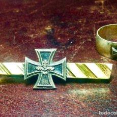 Militaria: PASADOR DE CORBATA Y ANILLO ALEMÁN PATRIÓTICOS . PERÍODO ALEMANIA NAZI , TERCER REICH . WEHRMACHT. Lote 276393953