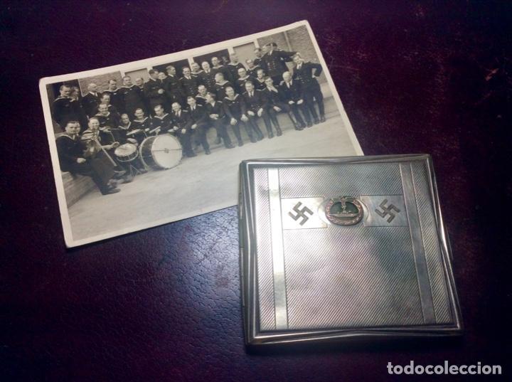 PITILLERA ALEMANA IIG.M. - KRIEGSMARINE ( CON FOTO DE SU DUEÑO ) (Militar - II Guerra Mundial)