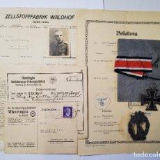 Militaria: DOCUMENTOS Y CONDECORACIONES OBERFELDWEBEL MAX KUBATTA DEL RGT.8 DE INFANT.ERSATZ.2ª GUERRA MUNDIAL. Lote 277149563