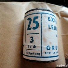 Militaria: 1 BOBINA DE HILO DE LINO GRIS ORIGINAL DE ÉPOCA. WEHRMACHT, PANZER, SS, NSKK, ALEMANIA IIGM. Lote 279327233