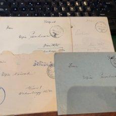 Militaria: LOTE 4 CARTAS 1942/43 - ALEMANIA NAZI - 2 GUERRA MUNDIAL N. 5. Lote 280217878