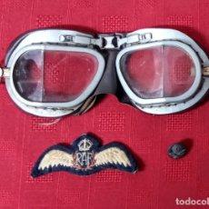 Militaria: LOTE GAFAS PILOTO RAF. II GUERRA MUNDIAL. Lote 289017653