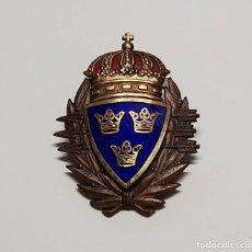 Militaria: INSIGNIA DE PLATA DE SUECIA TIRADOR DE SUBFUSIL DE 3ª CLASE DEL EJERCITO SUECO.2ª GUERRA MUNDIAL. Lote 289261938