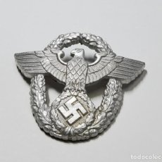 Militaria: DISTINTIVO GORRA PLATO DE GALA DE ALTO MANDO DE POLICIA DEL TERCER REICH ALEMAN.2ª GUERRA MUNDIAL.. Lote 289267708
