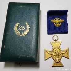 Militaria: MEDALLA DE 25 AÑOS DE SERVICIO EN LA POLICIA DE ALEMANIA.SEGUNDA GUERRA MUNDIAL. Lote 289268513