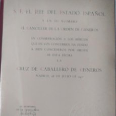 Militaria: DIVISIÓN AZUL, CONCESIÓN. Lote 289665628