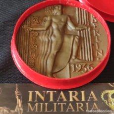 Militaria: MEDALLA DE BRONCE DE OLIMPIADAS DE 1936 Y OTROS RELACIONADOS. Lote 290082868