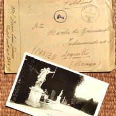 Militaria: DIVISION AZUL - SOBRE Y POSTAL - FELDPOST 1943. Lote 290516938