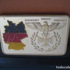 Militaria: LINGOTE ORO LAMINADO. BUNDESREPUBLIK DEUTSCHLAND. ALEMANIA II GUERRA MUNDIAL. Lote 293198103