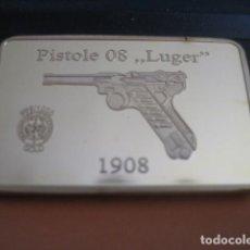 Militaria: LINGOTE ORO LAMINADO. PISTOLE 08 LUGER 1908. ALEMANIA II GUERRA MUNDIAL. Lote 293202078