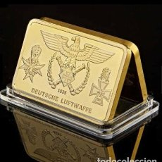 Militaria: LINGOTE ORO LAMINADO. DEUTSCHE LUFTWAFFE. ALEMANIA II GUERRA MUNDIAL. Lote 293199843
