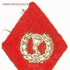 Militaria: ROMBO DE FARMACIA, EN TELA.. Lote 6520200