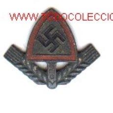 Militaria: INSIGNIA ALEMANA DE GORRA,R.A.D. 2ª GUERRA MUNDIAL.. Lote 4549295