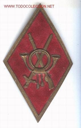 INSIGNIA GRAN ROMBO DE INFANTERIA, DE GASTADOR, ESPAÑA, AÑOS 50. (Militar - Insignias Militares Españolas y Pins)