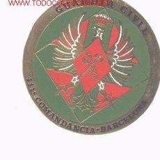 Militaria: GRAN PLACA DE LA GUARDIA CIVIL. 411 COMANDANCIA. BARCELONA... Lote 4265171