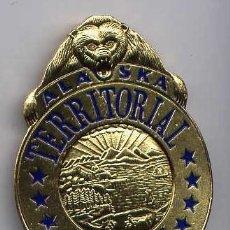 Militaria: ESTADOS UNIDOS PLACA DE POLICÍA. ALASKA TERRITORIAL POLICE OFFICER. . Lote 3144052
