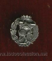 INSIGNIA SOLAPA CIENCIAS EXACTAS EN PLATA DE LEY CORONA ANTIGUA (Militar - Insignias Militares Extranjeras y Pins)