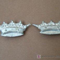 Militaria: 2 INSIGNIAS DE CUELLO CORONA IMPERIAL. 31X15MM.. Lote 35950878