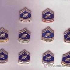 Militaria: COLECCION DE 10 PINS CON EL EMBLEMA ANTIGUO DE LA UIP.. Lote 26906966