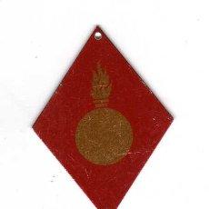 Militaria: INSIGNIA ROMBO EJERCITO ESPAÑOL - ARTILLERIA - PRINCIPIO AÑOS 80. Lote 20399619