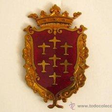 Militaria: ESCUDO DE LA CIUDAD DE ALCANTARILLA. 44X27MM. PARA POLICÍA MUNICIPAL.. Lote 26553431