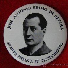 Militaria: CHAPA DE JOSE ANTONIO PRIMO DE RIVERA, 57MM.. Lote 26553483