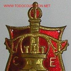 Militaria: ESCUDO DE BRAZO DEL CUERPO DE EJÉRCITO DE CASTILLA. ÉPOCA GUERRA CIVIL 1936-39. METÁLICO. (CIVIL . Lote 144864049