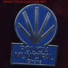 Militaria: PLACA DE POLICÍA LOCAL DE GIRONA. INSIGNIA DE GORRA. Lote 11273930