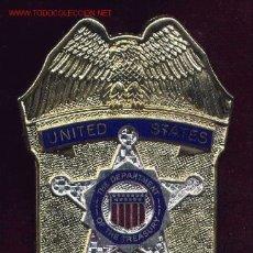 Militaria: ESTADOS UNIDOS PLACA DE POLICÍA. SECRET SERVICE. . Lote 2643223
