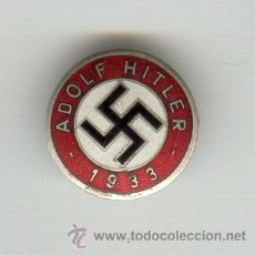 Militaria: ALEMANIA TERCER REICH 1933 ADOLF HITLER PARTIDO NAZI DIÁMETRO: 23 MM.. Lote 21913930