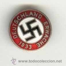 Militaria: ALEMANIA TERCER REICH DEUTSCHLAND PARTIDO NAZI 1933. DIÁMETRO: 23 MM. DESPERTAR ALEMÁN.. Lote 21913931