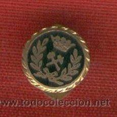 Militaria: LOTE DE 5 INSIGNIAS SOLAPA INGENIEROS DE MINAS ANTIGUA CON BOTON O ALFILER. Lote 133214814