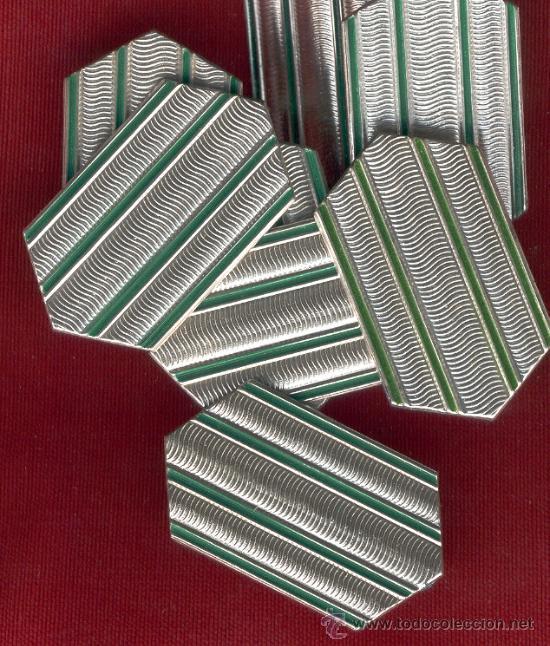 LOTE DE 20 GALONES METALICOS PARA GORRA O BOINA (Militar - Insignias Militares Extranjeras y Pins)