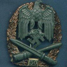 Militaria: ALEMANIA III REICH. PLACA DE ASALTO GENERAL. 50 ASALTOS. MUY BUENA REPRODUCCIÓN DE LOS 70-80. Lote 12242453