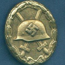 Militaria: ALEMANIA III REICH. PLACA DE HERIDO. VERSIÓN ORO. MUY BUENA REPRODUCCIÓN DE LOS 70-80. Lote 12242942