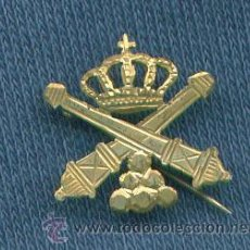 Militaria: EPOCA ALFONSO XIII. INSIGNIA DE SOLAPA DE ARTILLERÍA. 15 MM. Lote 12939514