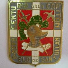 Militaria: PLACA INSIGNIA DE FALANGE, CENTURIA GRAN CAPITAN, BARRUELO DE SANTULLAN.. Lote 13682548