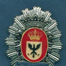 Militaria: PLACA DE POLICÍA MUNICIPAL. MODELO ANTIGUO. AGUILAR DEL CAMPO.. Lote 210721550
