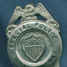 Militaria: ESTADOS UNIDOS. PLACA DE POLICÍA. SPECIAL POLICE. ADHAM MA.. Lote 14137670