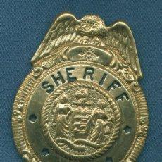 Militaria: ESTADOS UNIDOS. PLACA DE POLICÍA. SHERIFF.. Lote 14137841
