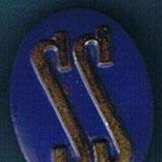 Militaria: INSIGNIA SERVICIO SOCIAL. COLOR AZUL. UN ÓVALO. . Lote 18588608