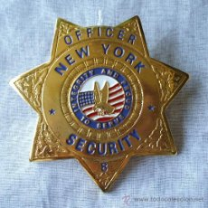 Militaria: PLACA POLICIA DE OFFICER SEGURITY DE NUEVA YORK.. Lote 16269305