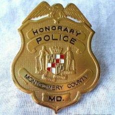 Militaria: PLACA POLICÍA MONTGOMERY COUNTY.. Lote 18376595