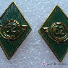 Militaria: 2 ROMBOS MILITARES. EJÉRCITO ESPAÑOL DE MONTAÑA. NÚMERO 62. .. Lote 260811660