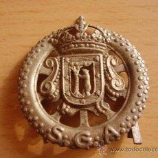 Militaria: EMBLEMA AYUNTAMIENTO DE MADRID S.G.A.. Lote 26469876